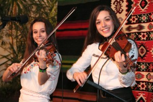Sisters Ariana and Amberly Rosen play Balkan dance tunes as a sideline to their classical careers