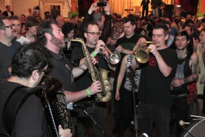 Brooklyn based Slavic Soul Party! plays Balkan brass rock fusion for dancing